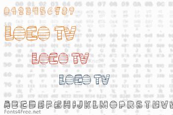 Loco TV Font