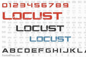 Locust Resistance Font