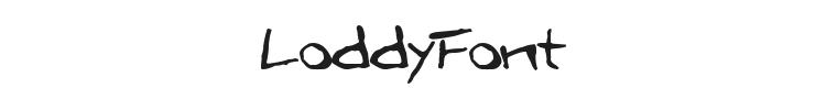 LoddyFont Font Preview