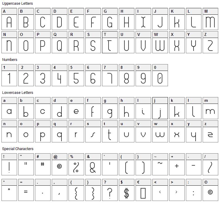 Lois Ann Font Character Map