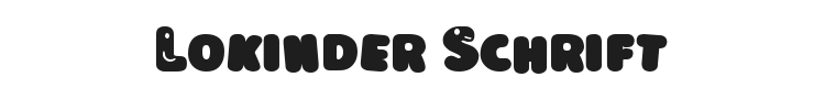 Lokinder Schrift Font Preview