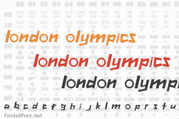 London Olympics 2012 Font
