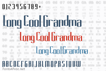 Long Cool Grandma Font