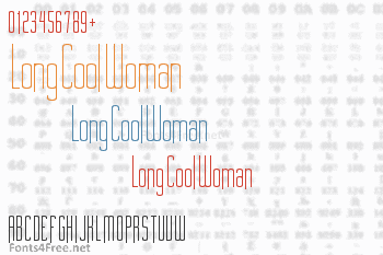 Long Cool Woman Font