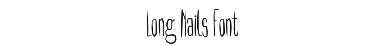 Long Nails Font Preview