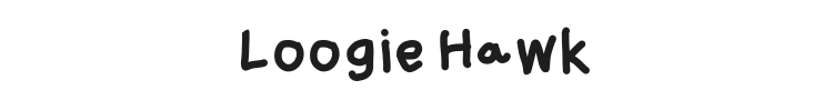 Loogie Hawk Font Preview