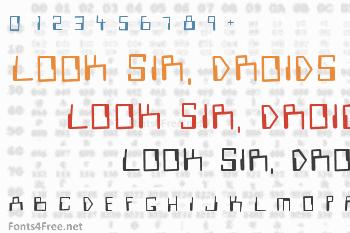 Look Sir, Droids Font