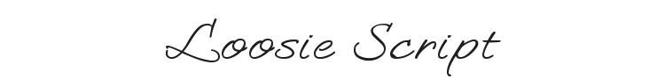 Loosie Script Font Preview