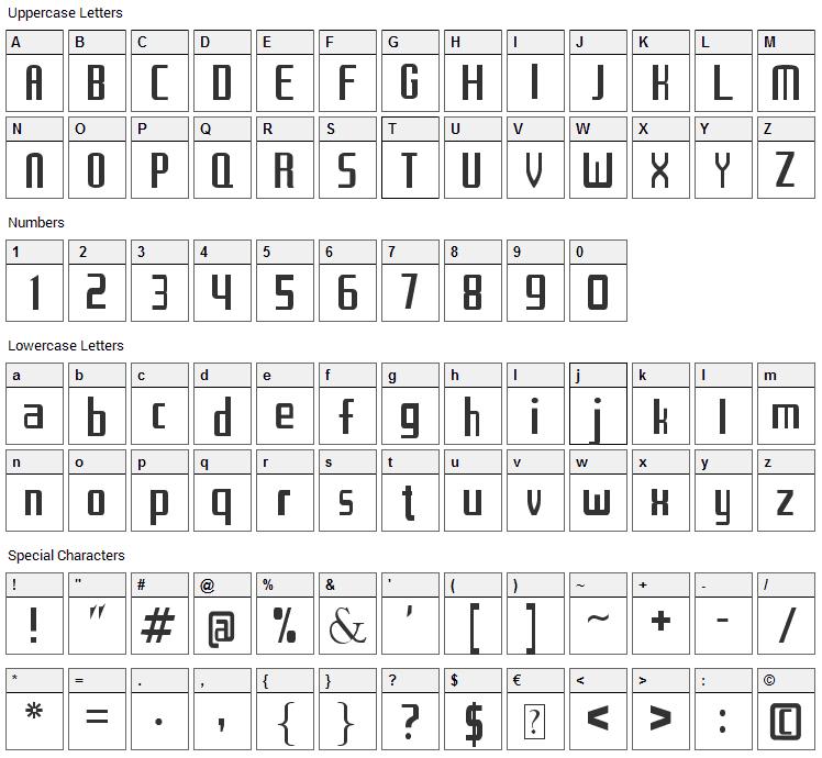 Los Caballeros del Zodiaco Font Character Map