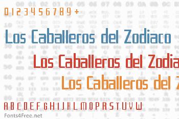 Los Caballeros del Zodiaco Font