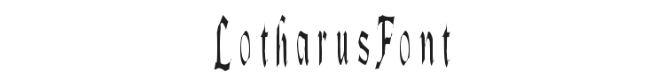 Lotharus Font Preview