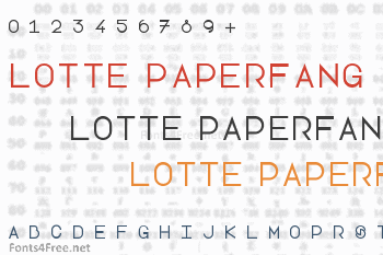 Lotte Paperfang Font