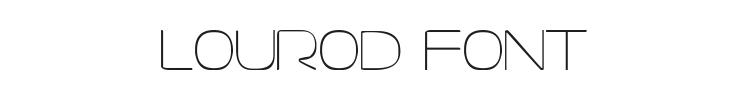 Lourod Font Preview
