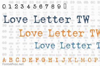 Love Letter TW Font