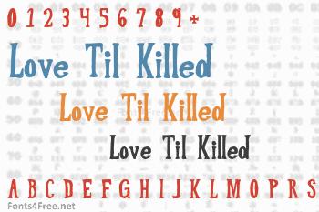 Love Til Killed Font