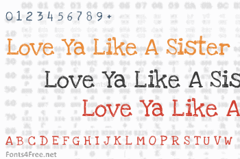 Love Ya Like A Sister Font