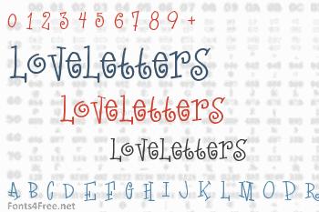 LoveLetters Font
