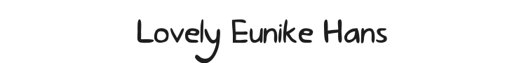 Lovely Eunike Hans Font Preview