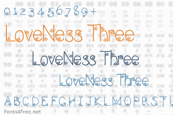 LoveNess Three Font