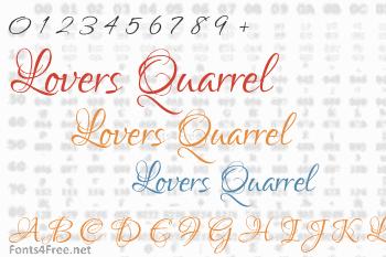 Lovers Quarrel Font