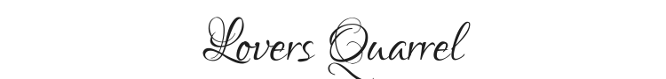 Lovers Quarrel Font