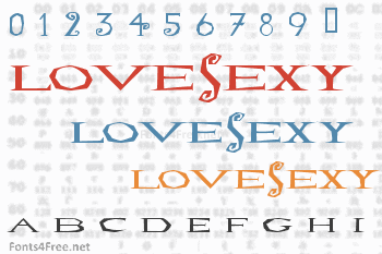 LoveSexy Font