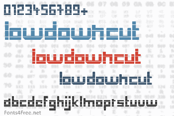 Low Down Cut Font