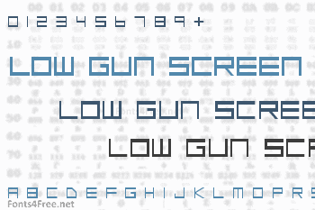 Low Gun Screen Font