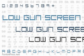 Low Gun Screen Font