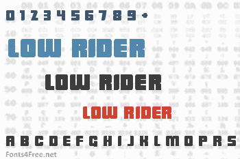 Low Rider Font