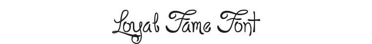 Loyal Fame Font
