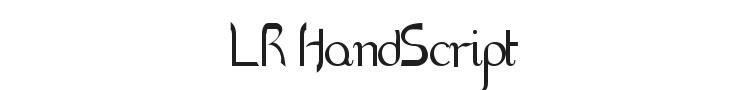 LR HandScript Font Preview