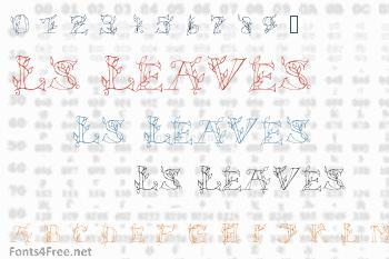 LS Leaves Font
