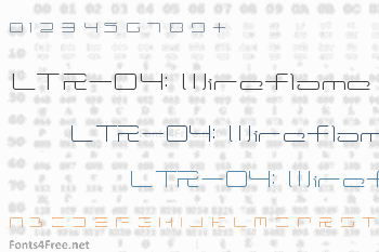 LTR-04: Wireflame Font