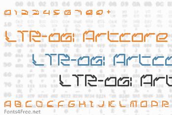 LTR-06: Artcore Font