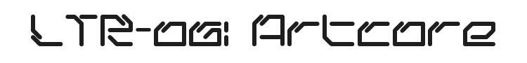 LTR-06: Artcore Font Preview