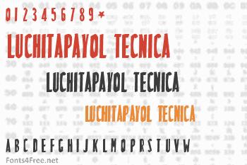 LuchitaPayol Tecnica Font