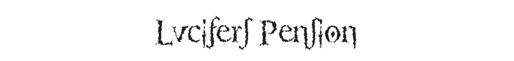 Lucifers Pension Font