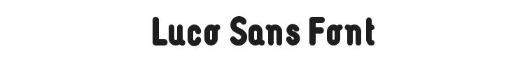 Luco Sans Font Preview
