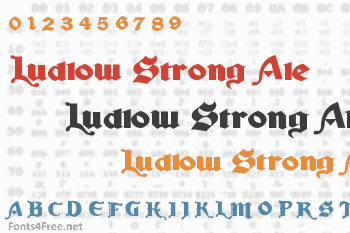Ludlow Strong Ale Font
