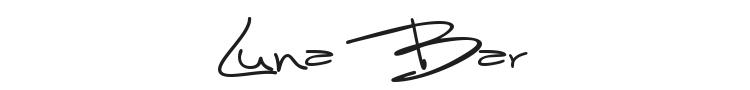 Luna Bar Font