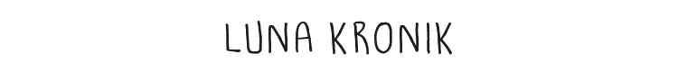 Luna Kronik Font Preview