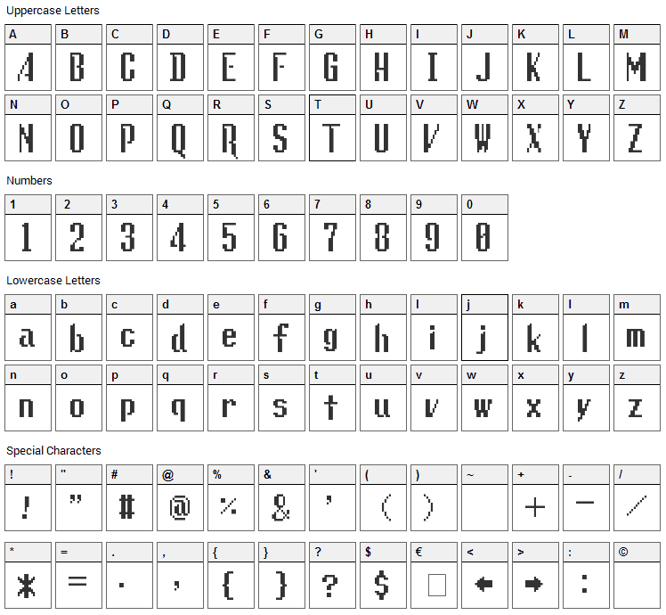 Lunchtime Doubly So Font Character Map