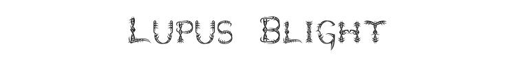 Lupus Blight Font Preview