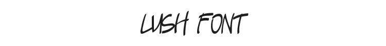 Lush Font