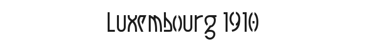 Luxembourg 1910 Font Preview
