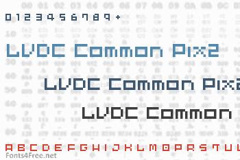 LVDC Common Pix2 Font