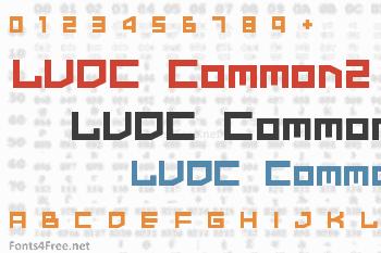 LVDC Common2 Font
