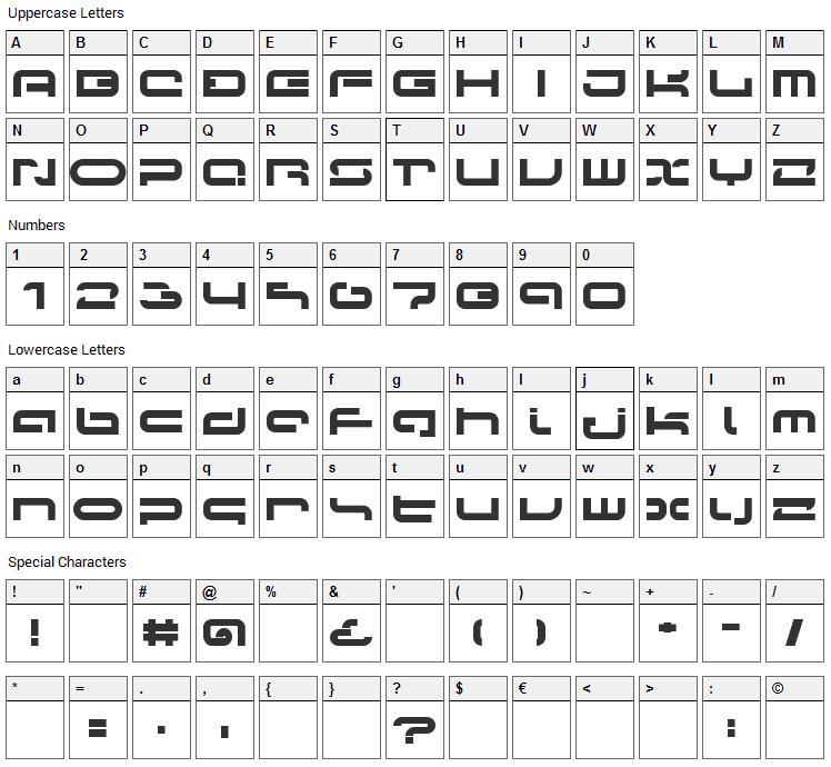 LVDC Papicon Font Character Map