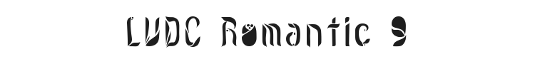 LVDC Romantic 9 Font